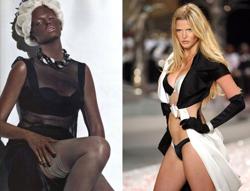 lara-stone-french-vogue-blackface