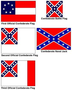 The evolution of the Confederate Flag over the years.