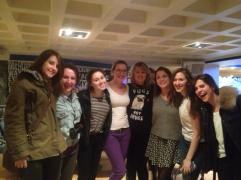 The Girls of the Revue and Mirth After Their Late Night Pillow Fight show