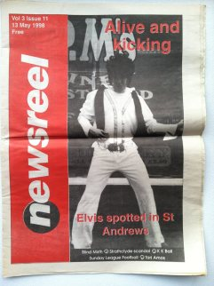 Front Page. Elvis promoted Blind Mirth back in the day.