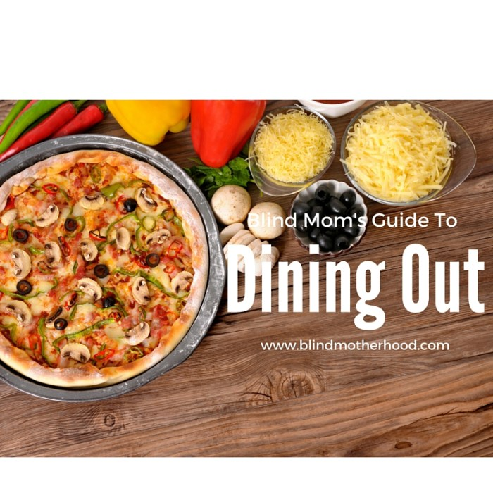 Read this Blind Mom's Guide to Eating Out with Kids & Learn the 6 Items You Should Bring to the Restaurant