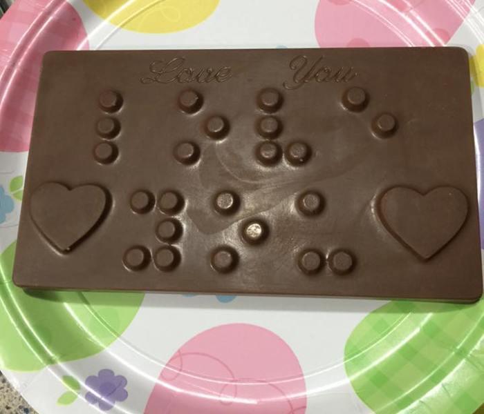 Chocolate Braille Bars