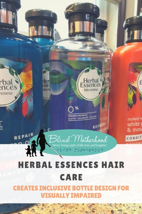 Essences Hair Care Products with the Blind Motherhood logo.
