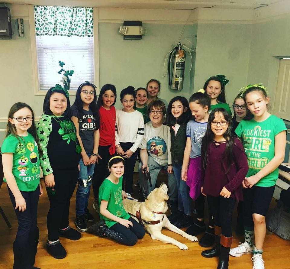Holly & Frances visit with a local Girl Scout Troop.