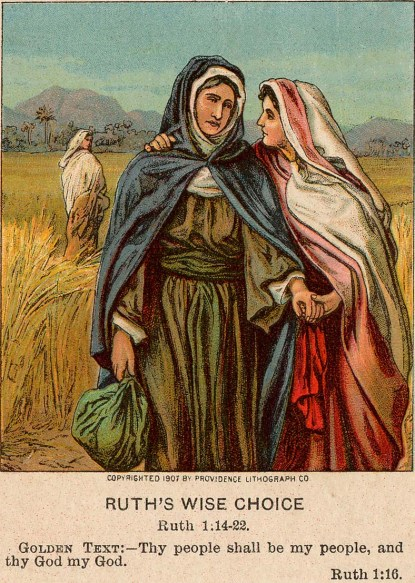 Ruth & Naomi Antique Prayer Card