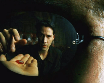 Neo Takes Morpheus' Red Pill