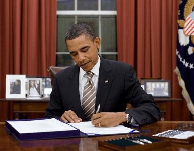 President Obama Signing Legislation Into Law