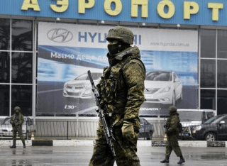 Russian Soldier at Simferopol Airport, February 28