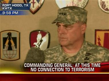 LTG Mark Milley, Fort Hood Commanding General, Addresses the Media Shortly After Shooting