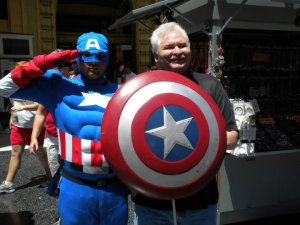 Jay with Captain America pic