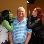 Jay kissed by She Hulk and Black Widow