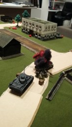 31 - Wrecked half track left flank