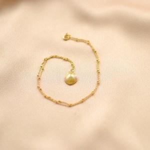 collar de moda concha-bling bling