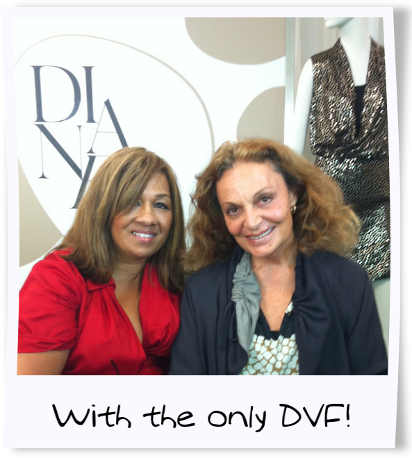 me and dvf polaroid