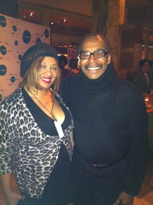 Tracey and Reginald at Texture on the runway NYFW