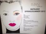 mataano face sheet iman cosmetics summser spring 2013