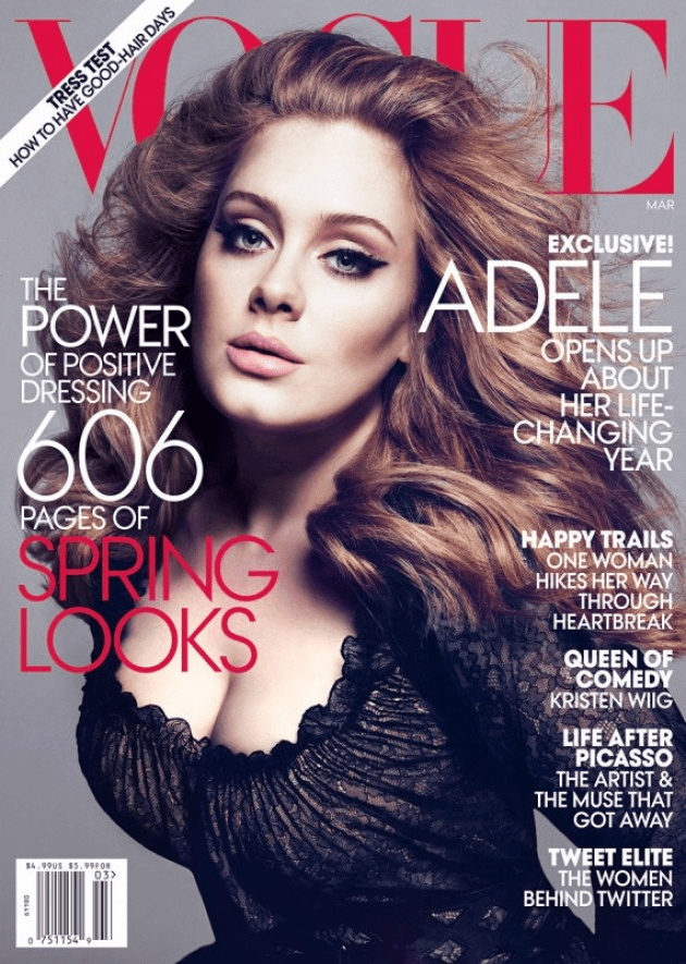 Adele Vogue 2013 Cover