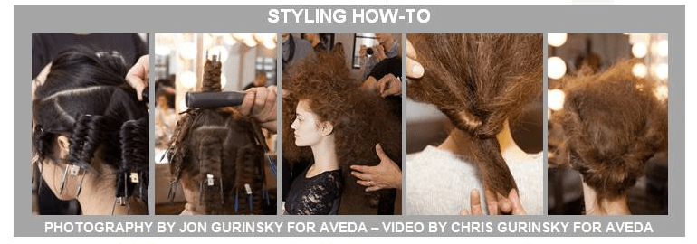 ann yee aveda fall fashion week 2013 hair styling