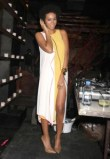 Solange wearing BCBG Max Azria/Herve Leger party