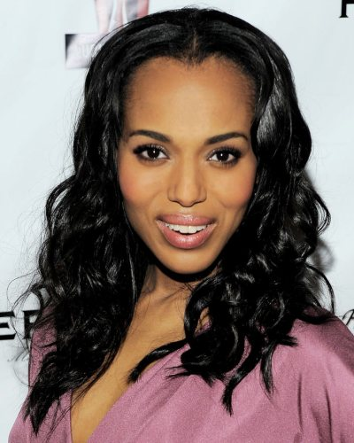 kerry-washington-awards-benefit-beach waves hair