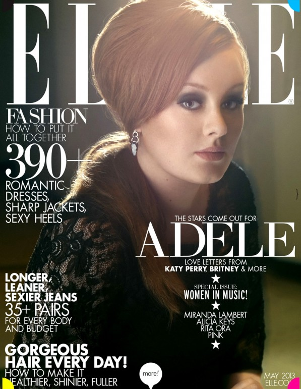Adele may elle cover 2013