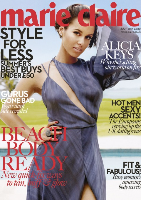 Alicia-Keys-1 Marie Claire UK Cover
