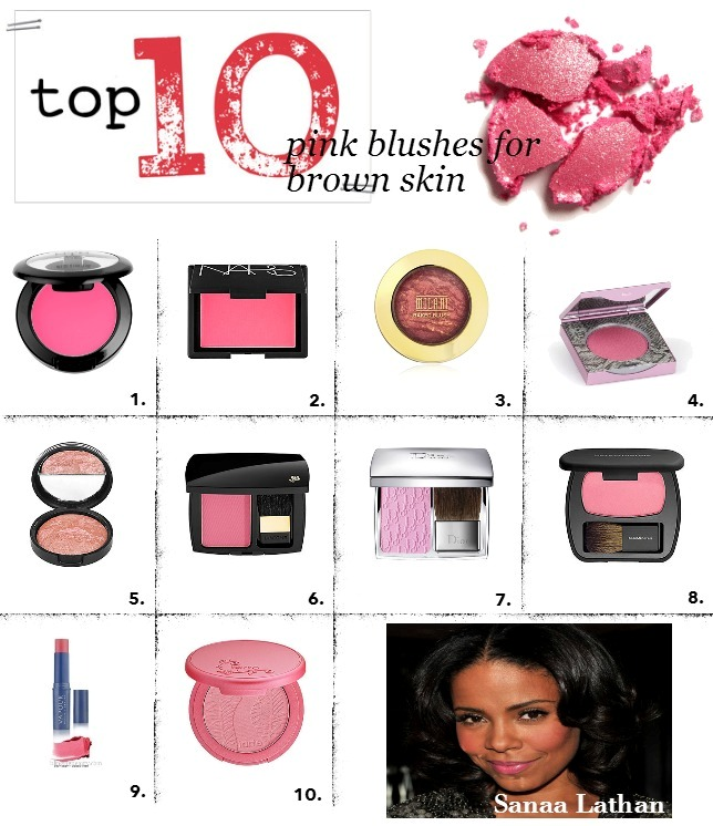top 10 pink  blushes for brown skin use