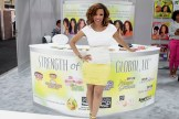 Elise Neal (Scandal, CSI, The Hughleys) at the Strength of Nature booth during Cosmoprof North America 2013