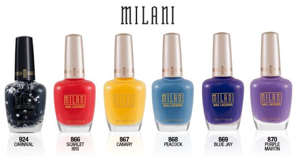 Milani limited edition nail polish collection FANTASTICAL PLUMAGE LINEUP