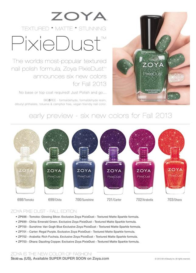 zoya fall 2013 pixie dust collection
