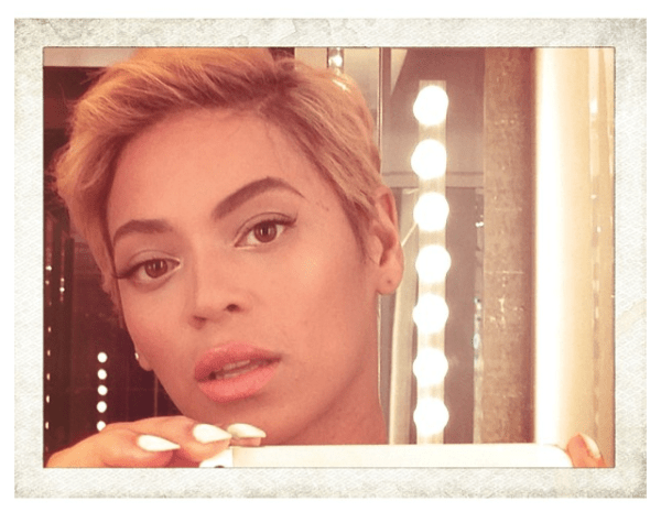 beyonce instagram short hair 2