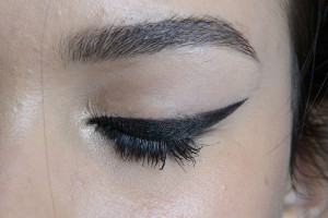 New York Fashion Week Spring 2014: Backstage Beauty Mally Roncal for Tracy Reese Spring Summer 2014 Runway Show eyeliner look