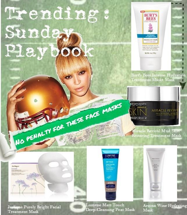 Trending: Sunday Playbook face masks layout
