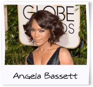 Angela Bassett golden globes framed