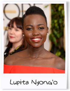 Lupita Nyong'o Golden Globes framed