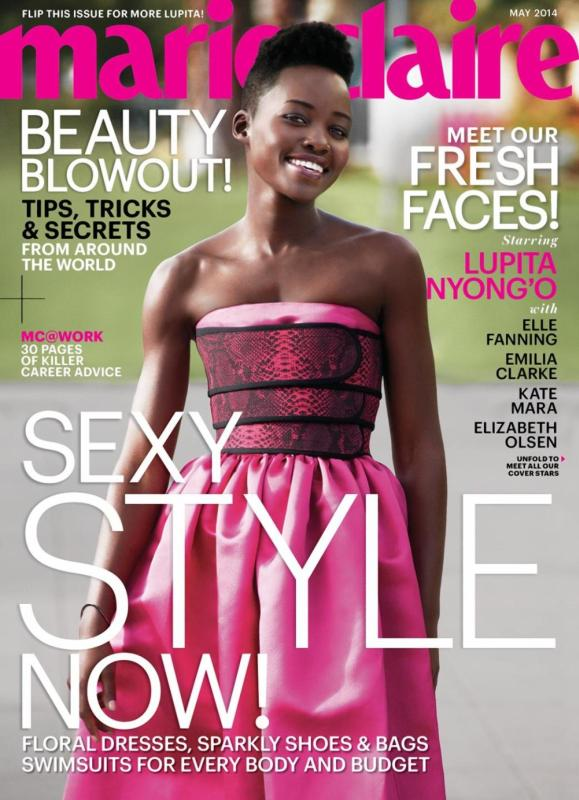 Lupita Nyong'o May 2014 Fresh Face Marie Claire Cover