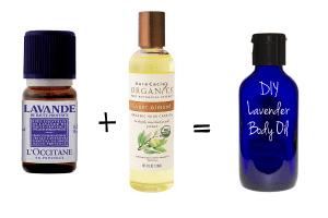 DIY Lavender Body oil