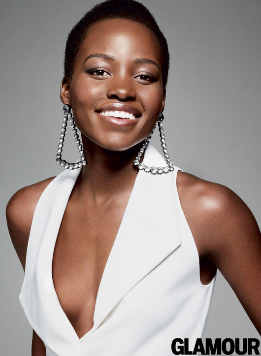 Lupita Nyong'o glamour december 2014 cover woman of the year 2014