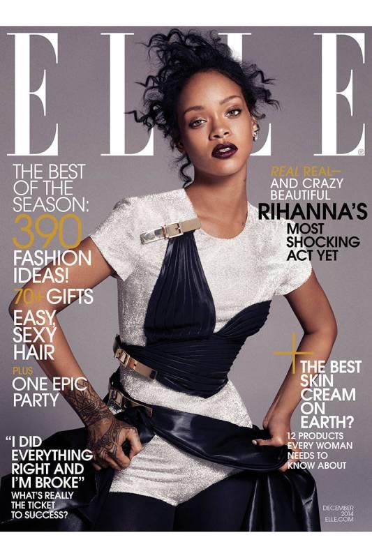 Rihanna december 2014 Elle USA Cover