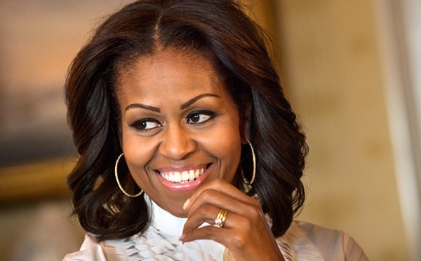 Michelle-Obama-center part hair