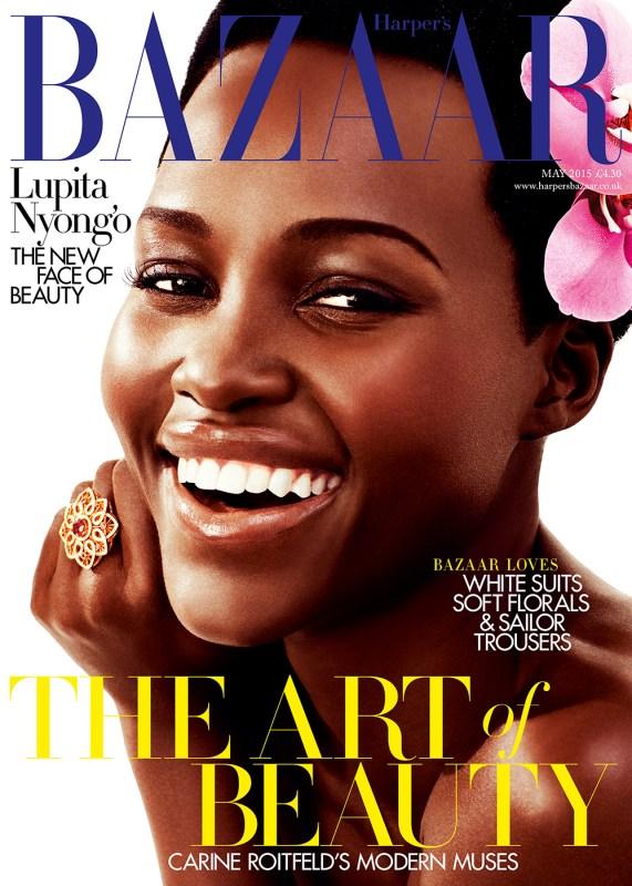 lupita nyongo harpers bazaar uk may 2015 cover