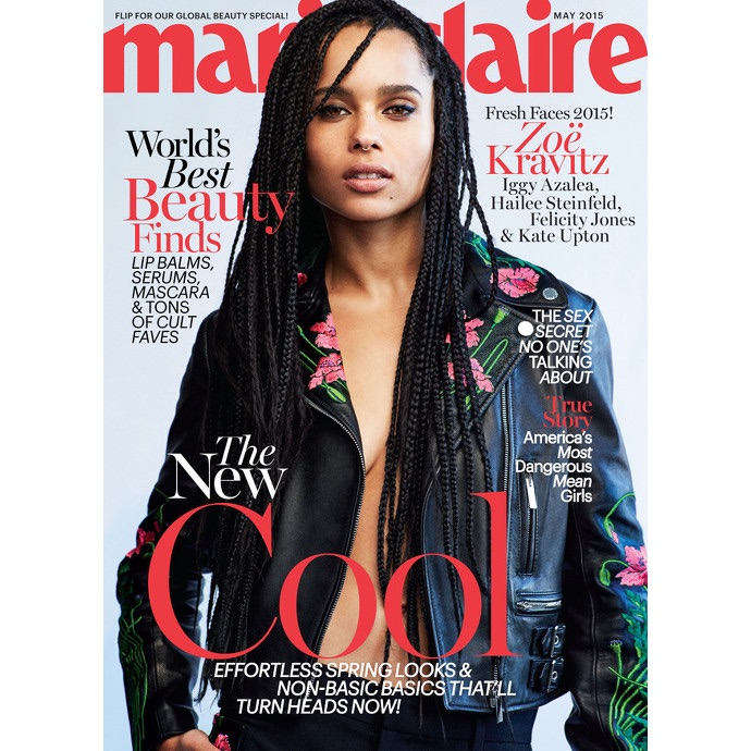 zoe kravitz marie claire may 2015 cover