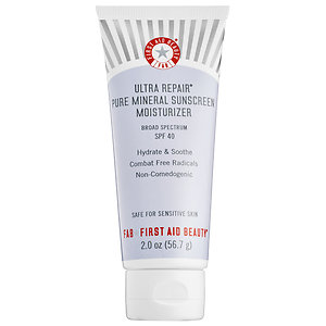 First Aid Beauty Ultra Repair Pure Mineral Sunscreen Moisturizer Broad Spectrum SPF 40