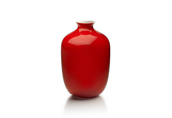 Middle Kingdom Mini Plum Vase in Coral Red