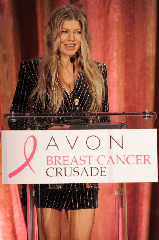 - New York - NY - 10/16/2015 - Global Brand Ambassador Fergie celebrates Avon's commitment to improving the lives of women globally at the Avon Foundation for Women's annual gala reception. The event featured #BeABreastFriend, a new campaign launched by the Avon Foundation which encourages women to support one another's breast health. -PICTURED: Fergie -PHOTO by: Bill Davila/startraksphoto.com -BDP_4153.JPG Startraks Photo New York, NY For licensing please call 212-414-9464 or email sales@startraksphoto.com Startraks Photo reserves the right to pursue unauthorized users of this image. If you violate our intellectual property you may be liable for actual damages, loss of income, and profits you derive from the use of this image, and where appropriate, the cost of collection and/or statutory damages. Image may not be published in any way that is or might be deemed defamatory, libelous, pornographic, or obscene. Please consult our sales department for any clarification or question you may have.
