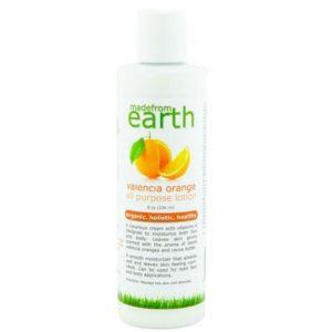 made from earth valencia orange lotion