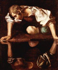 Narcissus, by Michelangelo Caravaggio, ca. 1598.