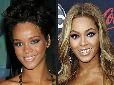 Rihanna and Beyonce' Smokey Eye