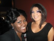 Trenell Rucker and Bernice backstage makeup at Kiss the Curves