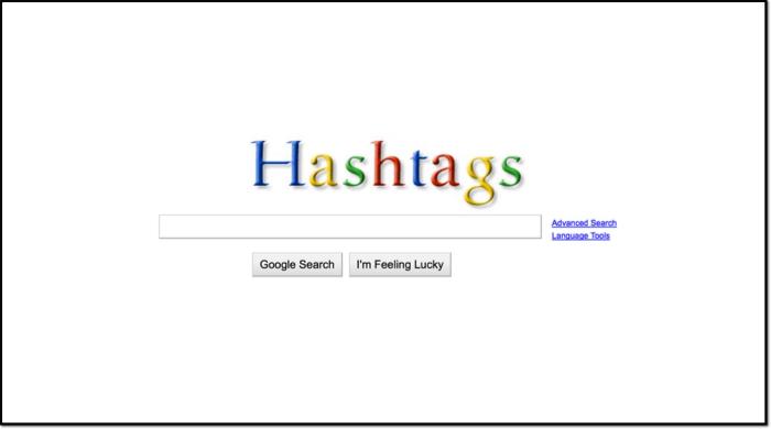 Hashtags As Google Logo Border